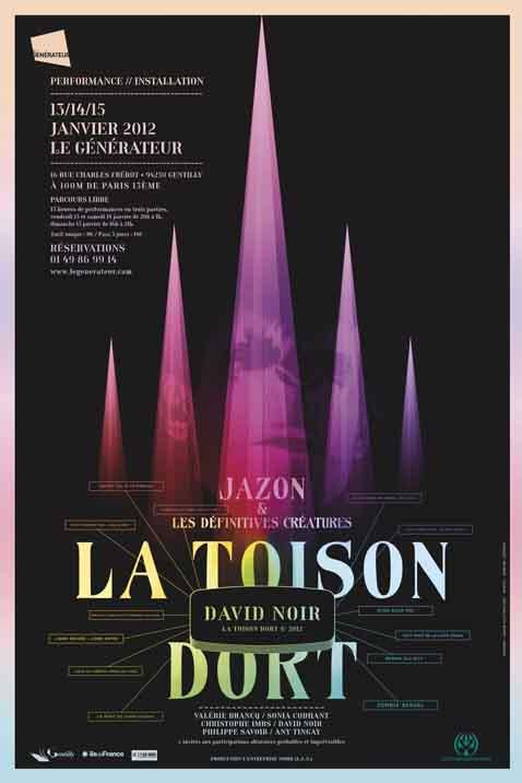 La Toison dort au Générateur - Affiche Filifox - Philippe Savoir
