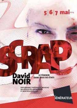 """""""SCRAP"""" de David Noir - Affiche Birgit Brendgen"""