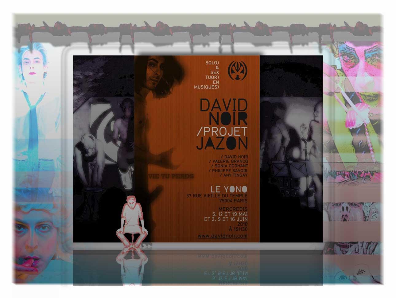 """Vie tu perds"" - Performance de David Noir - Cycle Projet JaZon. Avec Valérie Brancq, Sonia Codhant, Philippe Savoir et Any Tingay."