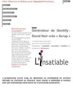 L'Insatiable - Scrap de David Noir