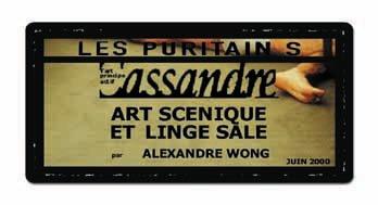 Cassandre - Les Puritains de David Noir