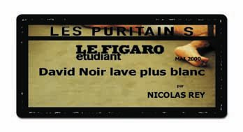 Le Figaro étudiant - Les Puritains de David Noir