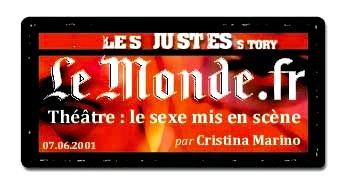 Le Monde.fr - Les Justes-Story de David Noir - Le sexe mis en scène